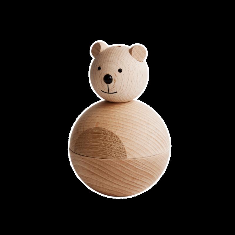 träleksak björn
