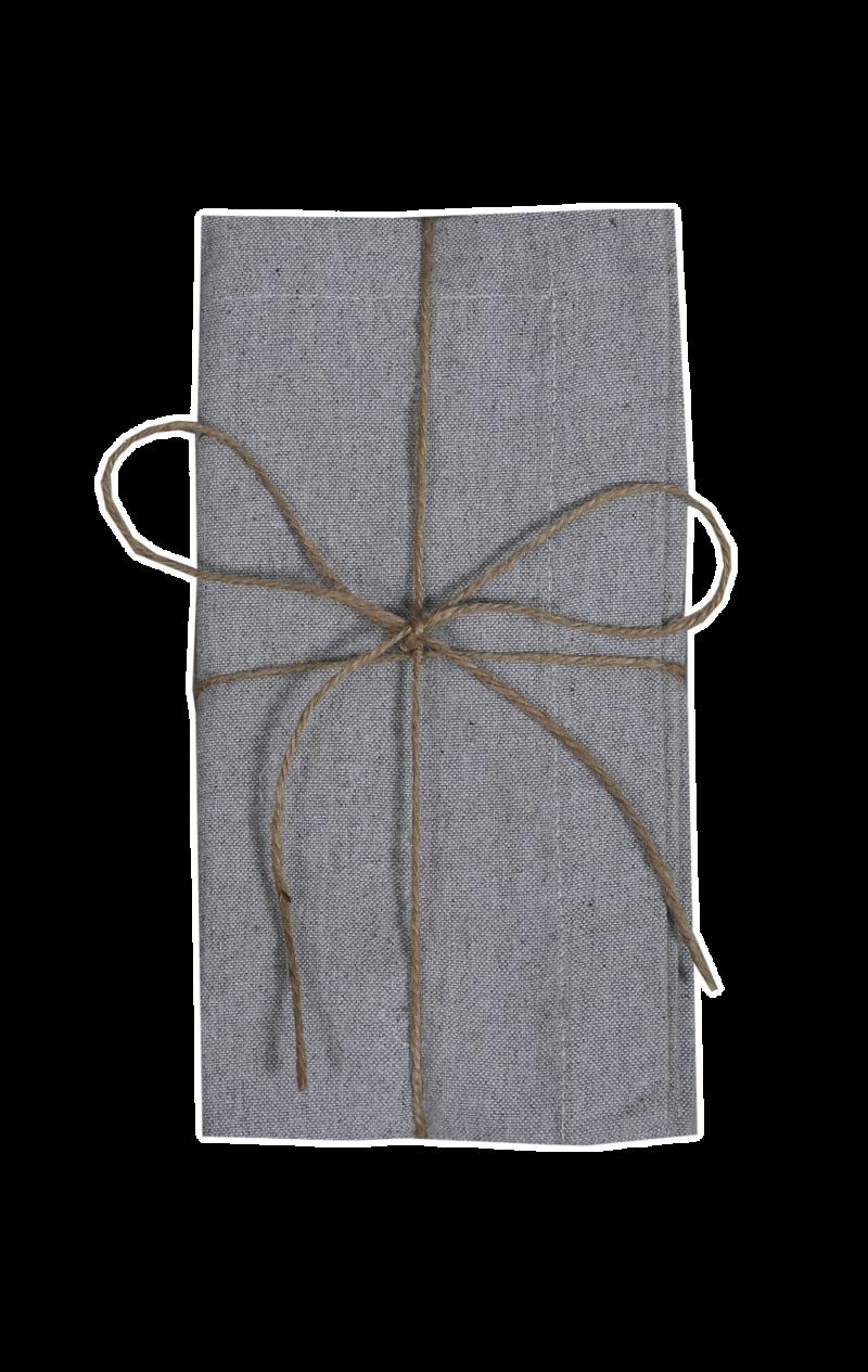 grå tygservett