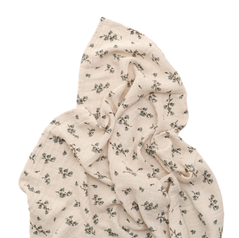 bluebell muslin swaddle