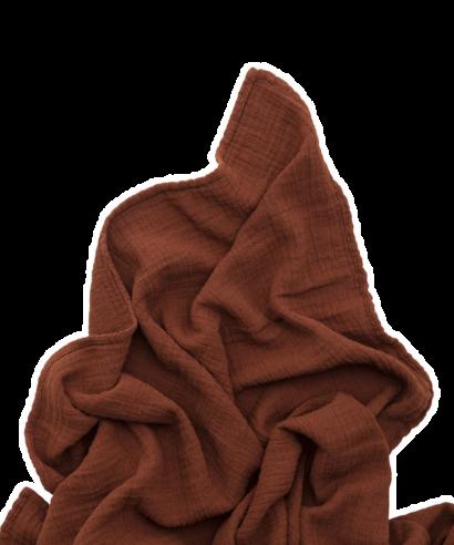 muslin swaddle cinnamon
